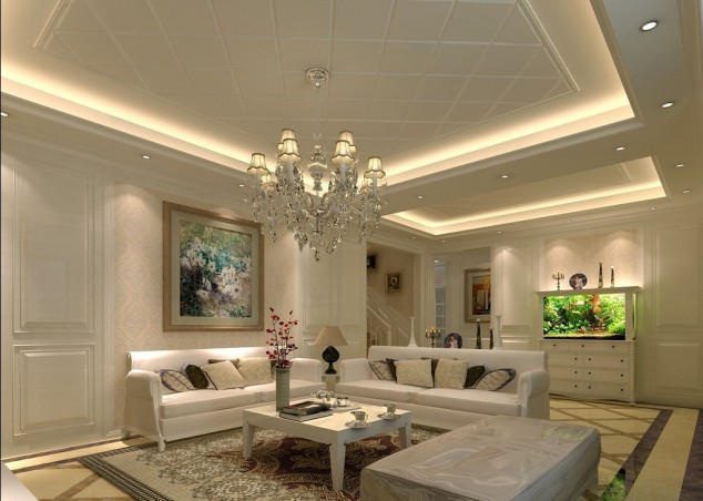modern ceiling ideas for living room canvas painting wall 16 impressive designs you need to see 38 634x452