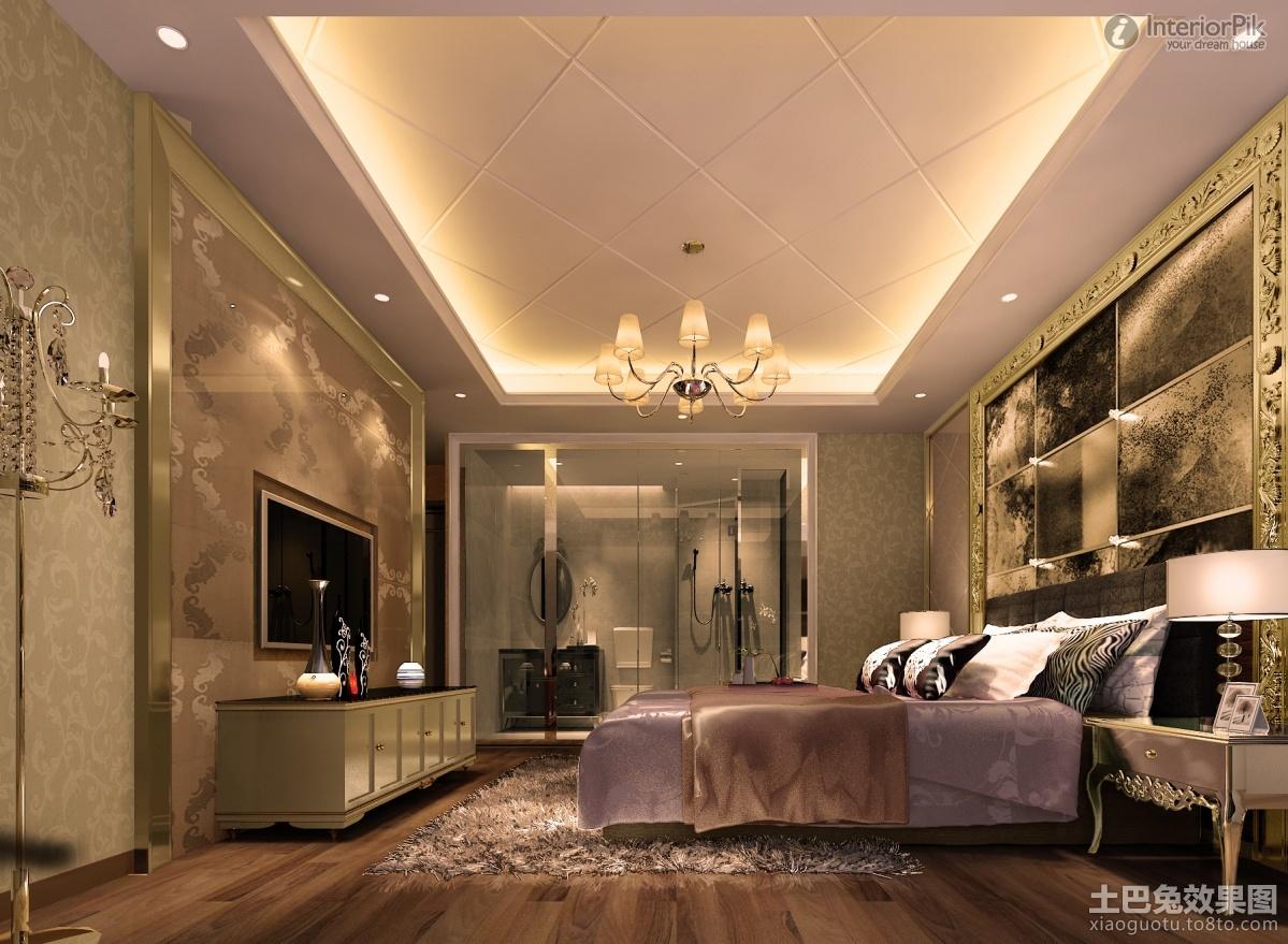 luxuriousstylemasterbedroomwithgypsumfalseceiling