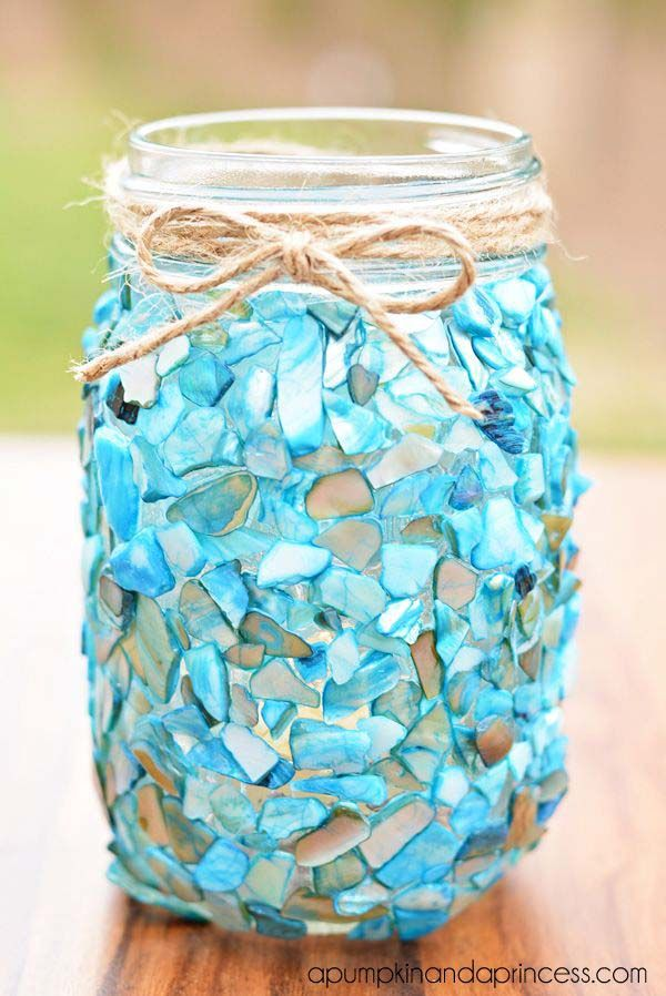 17 Creative DIY Home Decorations With Colored Glass And Sea Glass