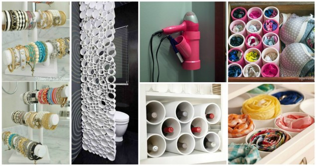19 Totally Unexpected PVC Pipe Organizing And Storage Ideas