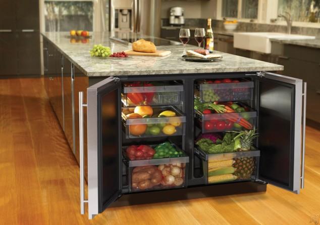 AI Nueva cocina Gamadecor 13 634x445 17 Ideas creativas que pueden ayudarle a ahorrar algo de espacio en su cocina