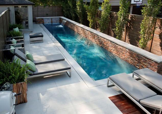 Pequeño Diseño de piscinas del patio trasero 634x450 10+ Ideas para maravillosas piscinas Mini la natación en su patio trasero