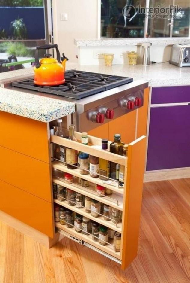 estantes extraíbles de almacenamiento de esquina cocina increíble 700x1040 634x942 17 ideas creativas que te puede ayudar a ahorrar algo de espacio en su cocina