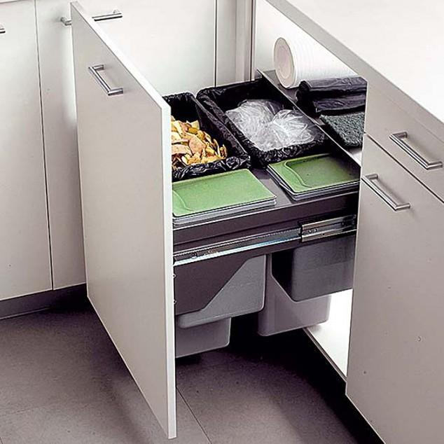 organización de ideas cocina drow 18 634x634 17 ideas creativas que te puede ayudar a ahorrar algo de espacio en su cocina