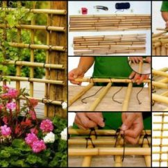 Cheap Way To Decorate Living Room Cute Curtains 13 Diy Ideas How Use Bamboo Creatively For Garden