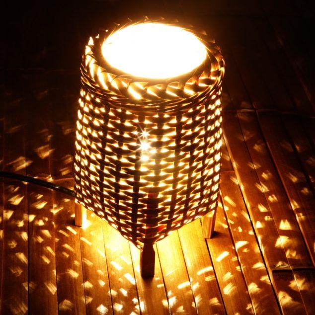 Hecho a mano llevó la lámpara de bambú personalidad creativa mesita de noche de la lámpara de la lámpara lámpara de noche la luz cálida noche romántica 634x634 16 adornos de bambú del árbol para la decoración del hogar de Thar son a la vez encantador y funcional