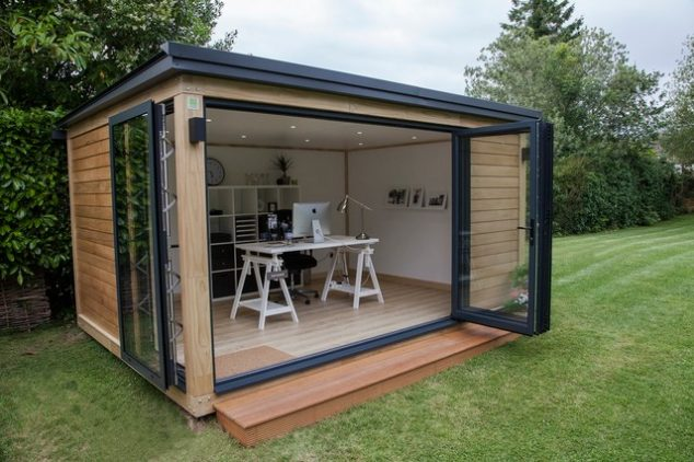 contemporary shed 634x422 13 Practical Open And Closed Garden Rooms That Are Pretty For Looking In