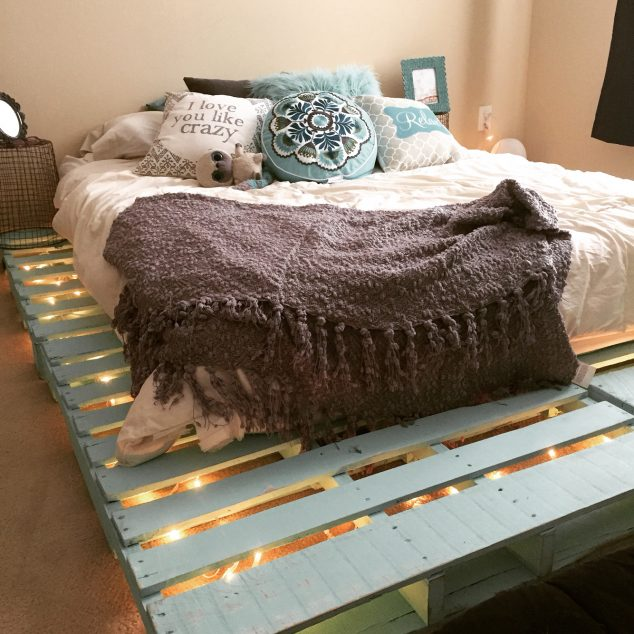 12 Genius Ideas For Pallet Bed With Lights Underneath
