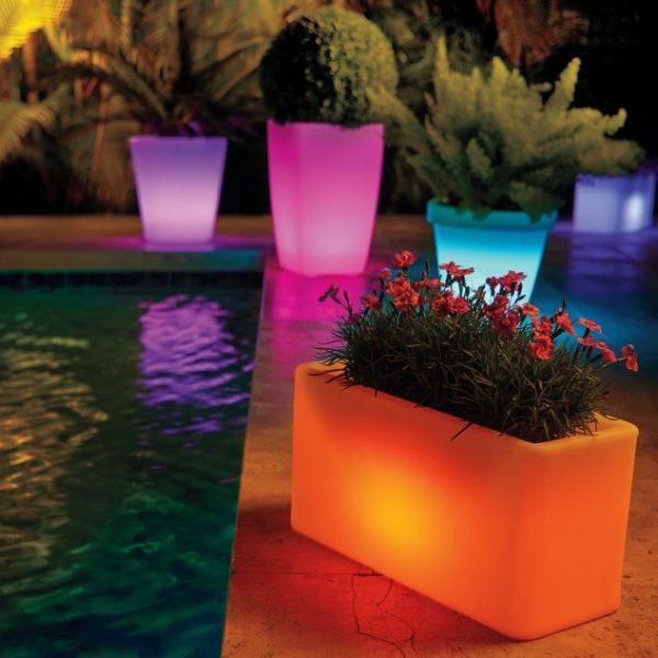 illuminated planters