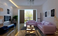 living room with purple sofa | www.energywarden.net