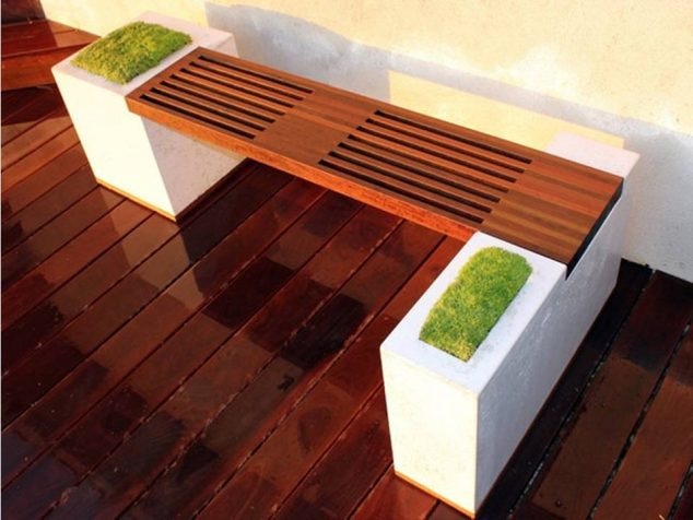 15 Special Built in Bench Planters You Dream About