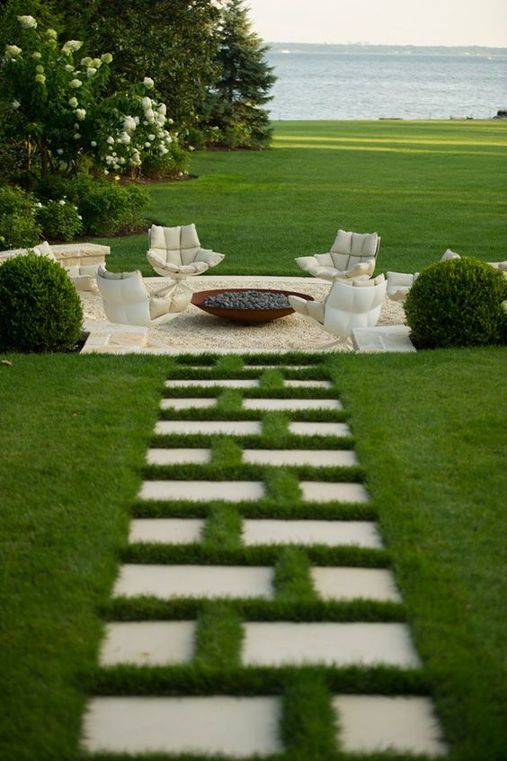 beautiful garden stone