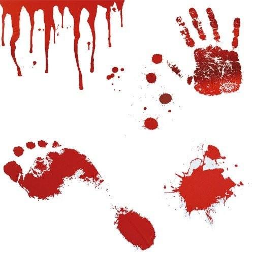 Adesivi Halloween da Parete Orme di Sangue