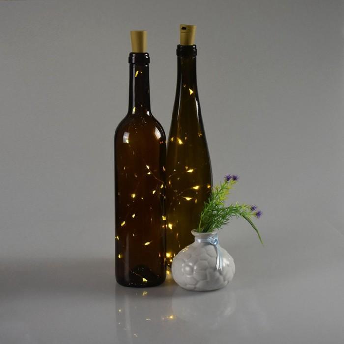 Tappo per bottiglia con STRINGA di luci a LED  vari colori  Novit