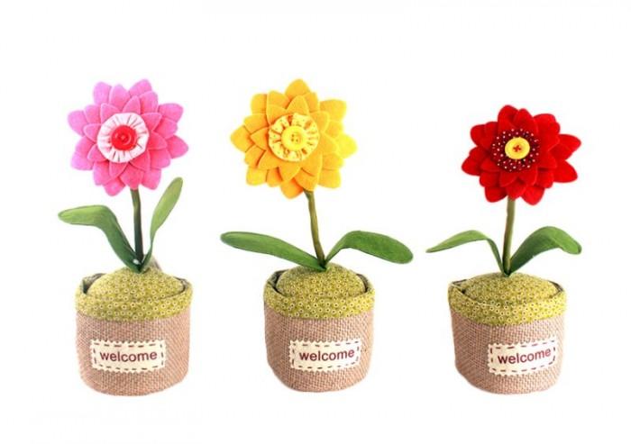 Fermaporte di stoffa design Fiore nel Vaso