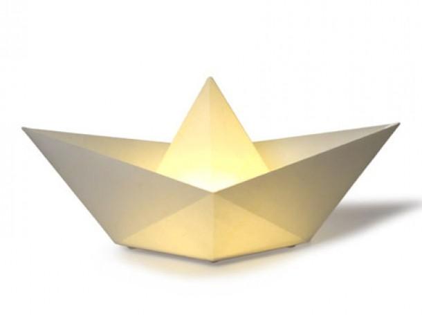 Boat Lamp  Lampada a forma di Barchetta Origami