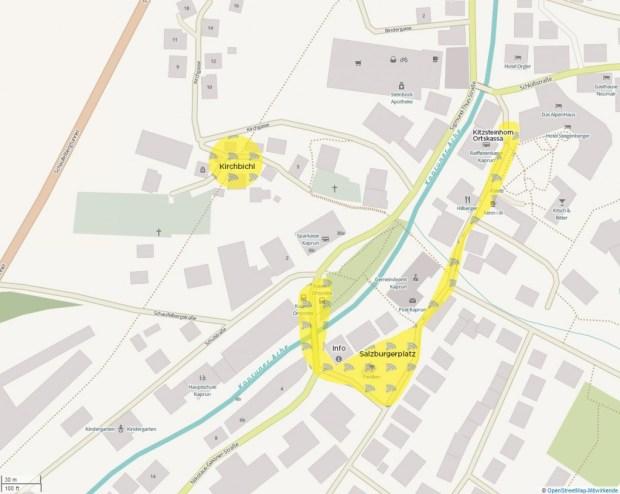 Wifi Kaprun plattegrond