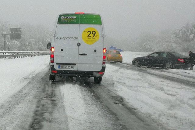 Autobahn A45 in het Sauerland vandaag. (bron Wetteronline)