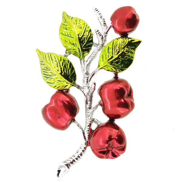 Apple Tree Branch Pin Brooch - Fantasyard Costume Jewelry