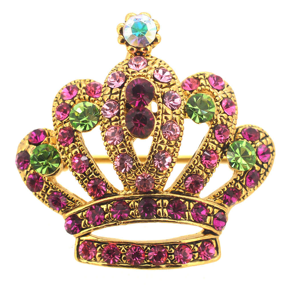 Princess Swarovski Crystal Crown Brooch And Pendant  Fantasyard Costume Jewelry  Accessories