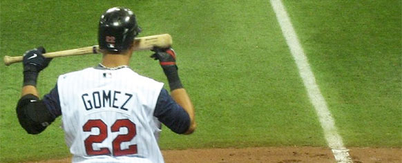 MLB Fantasy Baseball Waiver Wire Pickups for August 2012 - Carlos Gomez sniffing a bat