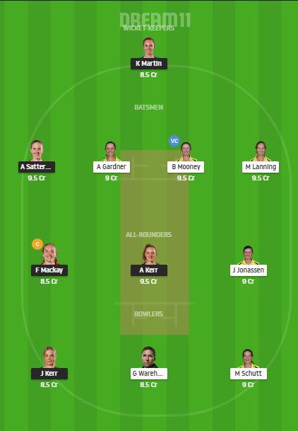 NZ-W VS AUS-W DREAM11 TEAM