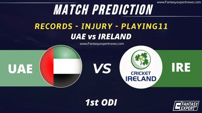 UAE vs IRE Player Stats and Records