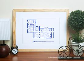 Himym Apartment Floor Plans Set Of 4