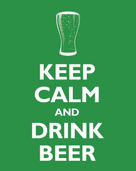 Keep Calm and Drink Beer Poster - Etsy