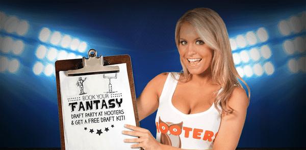 Book Fantasy Football Draft at Hooters 2013