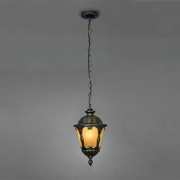 Aged Bronze Hanging Lantern