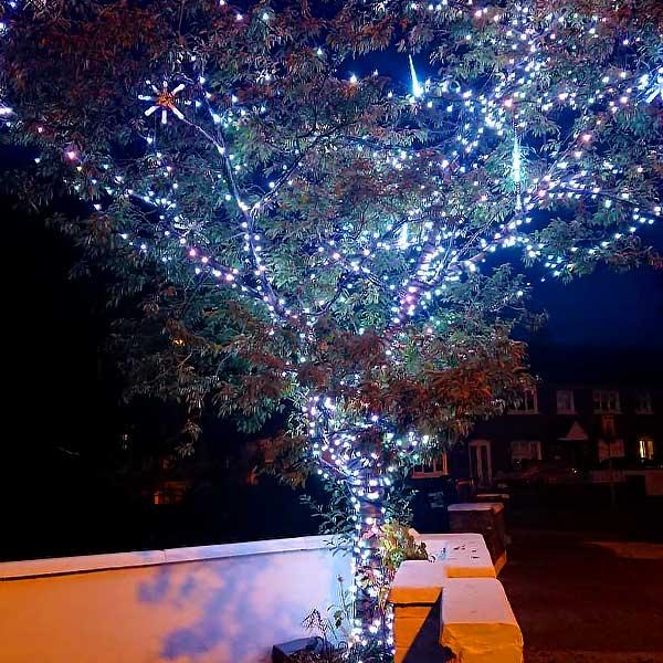 Christmas LED Tree Lights Ice White
