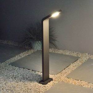 Graphite Ledge Bollard Light