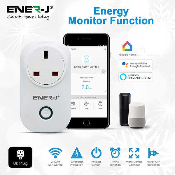 WiFi Smart Plugs with Energy Monitor, 16A UK Plug 6