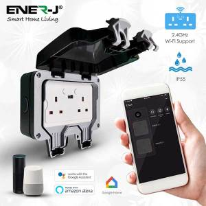 WATERPROOF 13A WiFi Twin Wall Sockets with 2 USB Ports 7