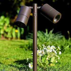 Twin Outdoor Mounted Spotlight