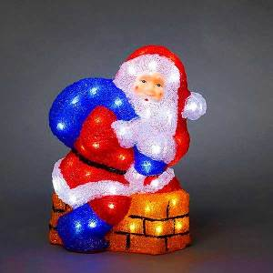 LED Acrylic Santa