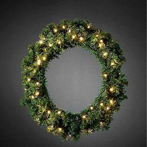 LED Amber Wreath