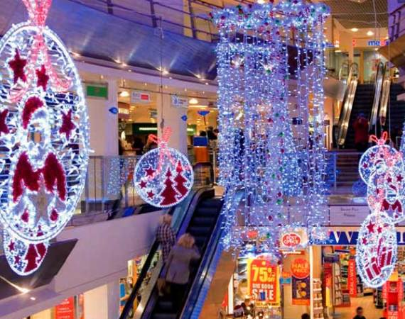 Lights Christmas Shopping Centres