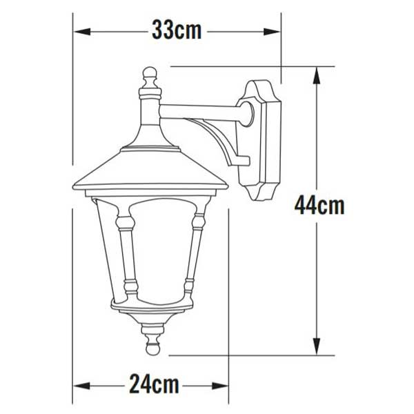 Round Lid Downlight Lantern
