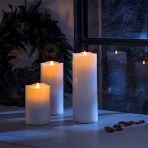 Moving Flame LED Candle 33CM