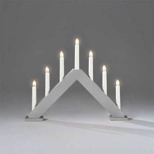 7 Lights Candlestick Grey
