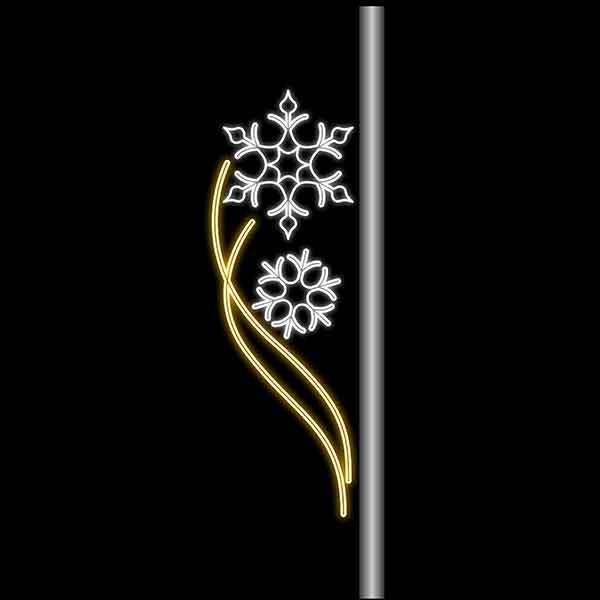 LED Snowflake Column Motif