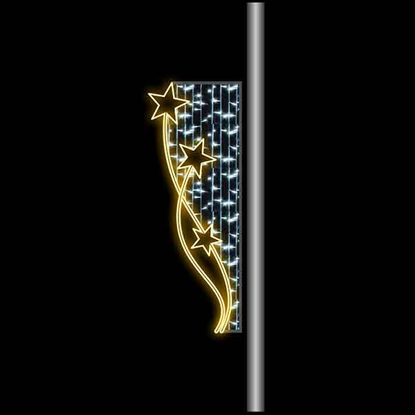 LED Stars Column Motif
