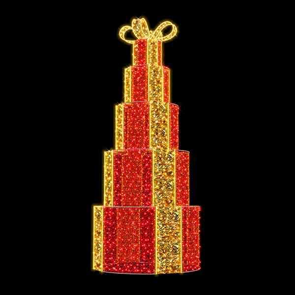 3D Christmas Gift Box Tower