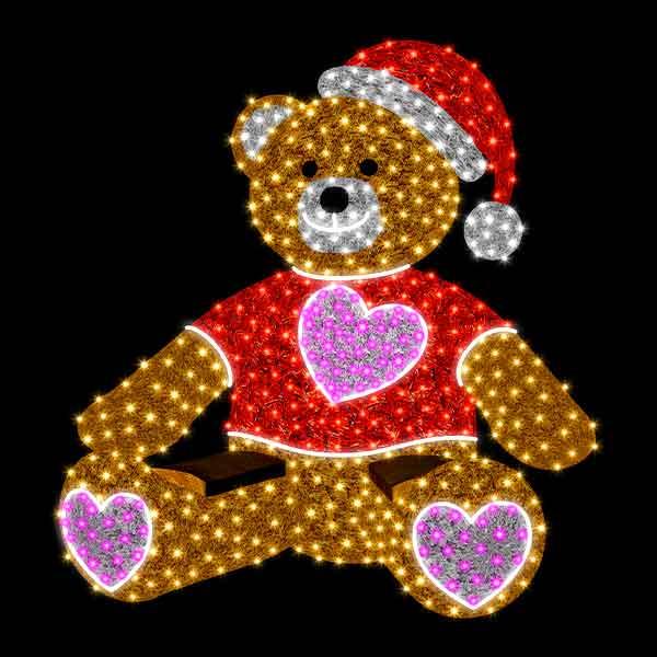 3D Christmas Bear