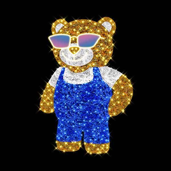 3D Christmas Teddy Bear