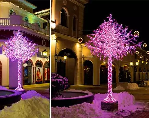 Spiral Tree Commercial Christmas Lighting