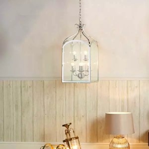 6 light traditional hanging lantern