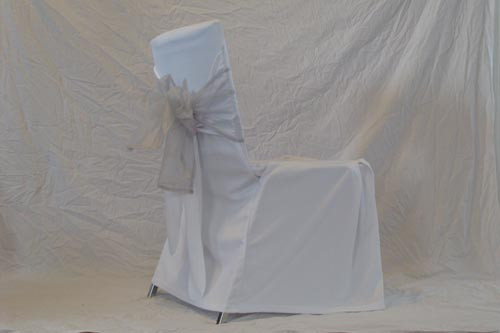 paper chair covers for weddings sweet 16 decorations wedding cover rentals toronto north york square back white with silver bow